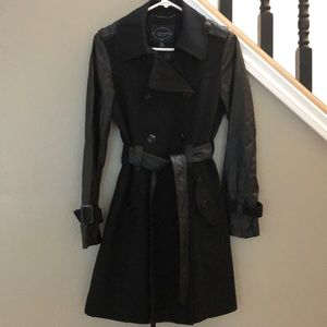 1 Madison Vegan Leather Trench Coat